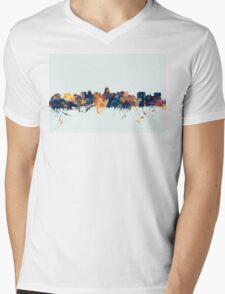 Madison Wisconsin Skyline Mens V-Neck T-Shirt