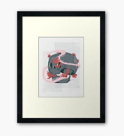 death and silence Framed Print