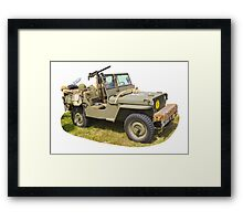 Willys World War Two Army Jeep Framed Print