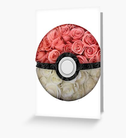 Floral Pokéball Greeting Card