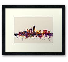 Indianapolis Indiana Skyline Framed Print