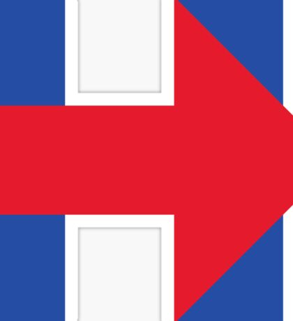 Hillary Arrow Sticker