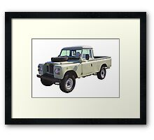 1971 Land Rover Pick up Truck Framed Print