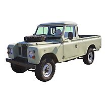 1971 Land Rover Pick up Truck Photographic Print