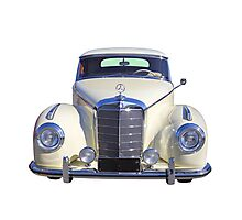 White Mercedes Benz 300 Luxury Car Photographic Print