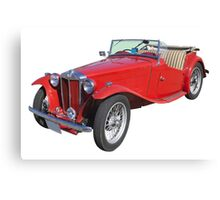 Red MG Convertible Antique Car Canvas Print
