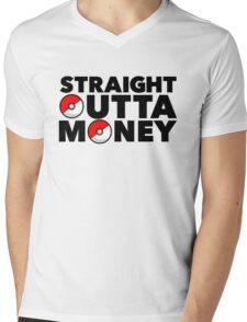 Pokemon Go - Straight Outta Money Mens V-Neck T-Shirt