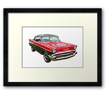 Red and Black 1957 Chevy Belair Framed Print
