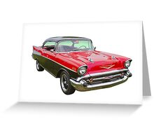 Red and Black 1957 Chevy Belair Greeting Card