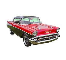Red and Black 1957 Chevy Belair Photographic Print
