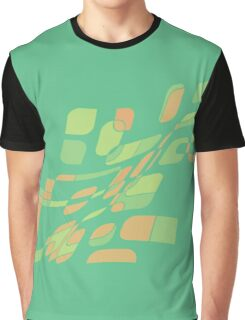 Green and orange abstract design Graphic T-Shirt