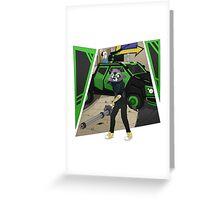 TheChaptenRex AKA The Mini-Gun Man Greeting Card