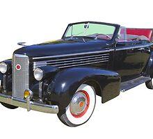 Black 1938 Cadillac Lasalle Antique Car by KWJphotoart