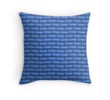 Groningen verkeersbord wallpaper Throw Pillow