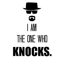 -BREAKING BAD- I Am The One Who Knocks Photographic Print