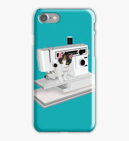 Sewing Kitten iPhone Case/Skin