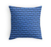 Verkeersbord Rotterdam sign - wallpaper Throw Pillow