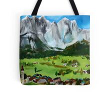 Tyrol Austrian Mountains Europe Landscape Contemporary Acrylic Painting Tote Bag