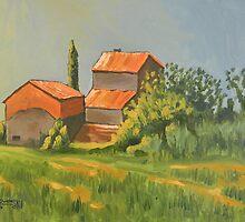 Vineyard In Italy by Robert Holewinski