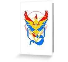 Pokemon Go teams fusion  Greeting Card
