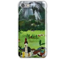 Tyrol Austrian Mountains Europe Landscape Contemporary Acrylic Painting iPhone Case/Skin