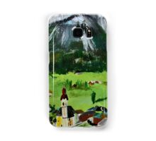 Tyrol Austrian Mountains Europe Landscape Contemporary Acrylic Painting Samsung Galaxy Case/Skin