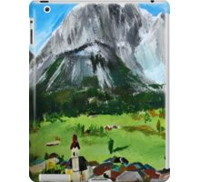 Tyrol Austrian Mountains Europe Landscape Contemporary Acrylic Painting iPad Case/Skin
