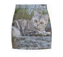 Ellie, British shorthair cat Mini Skirt