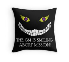 The GM Is Smiling Throw Pillow