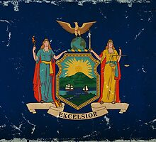 New York State Flag VINTAGE by Carolina Swagger