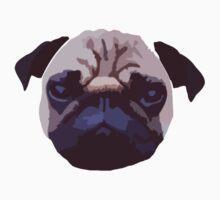 Pug Face Vector Design Kids Tee