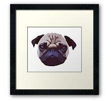 Pug Face Vector Design Framed Print