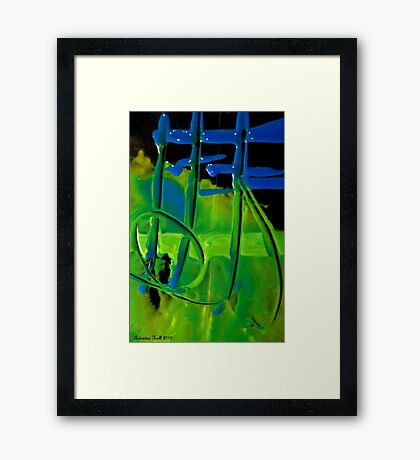 Writing is in the Paint Framed Print
