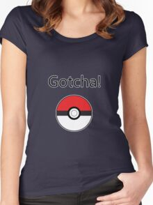 Pokemon Go - Gotcha! Women's Fitted Scoop T-Shirt