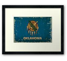 Oklahoma State Flag VINTAGE Framed Print