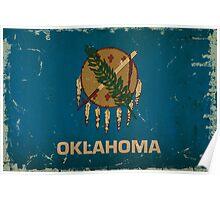 Oklahoma State Flag VINTAGE Poster