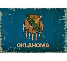 Oklahoma State Flag VINTAGE Photographic Print