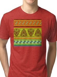 Multi Colored African Patterned Products Tri-blend T-Shirt