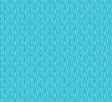 Blue Zebra Print Pattern Sticker