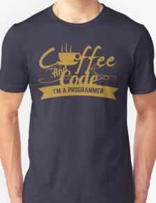 coffee and code Unisex T-Shirt