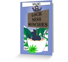 Papa Chef's Loch Ness Munchies Greeting Card