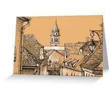 Roofs in Transylvania Greeting Card