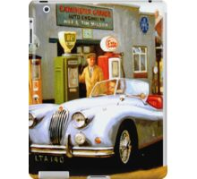English sportscar at 1950s service station. iPad Case/Skin