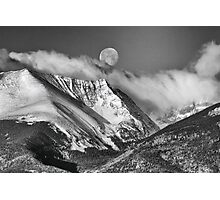 May Moon Set In Black And White Photographic Print