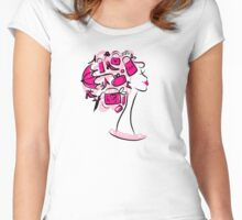 Female shopping Women's Fitted Scoop T-Shirt