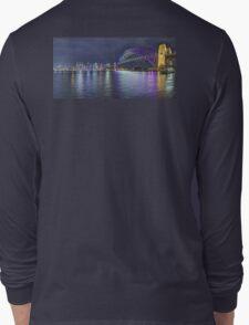 Sydney Harbour Opera house to Bridge at Vivid 2016 Long Sleeve T-Shirt