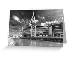 The Principality Stadium Monochrome Greeting Card
