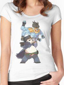 Pokemon-Pangoro x Machamp Jojo's bizarre adventure Women's Fitted Scoop T-Shirt