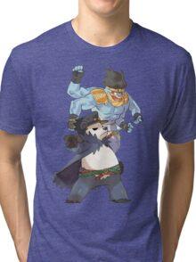 Pokemon-Pangoro x Machamp Jojo's bizarre adventure Tri-blend T-Shirt