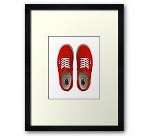 Vans - Red Framed Print